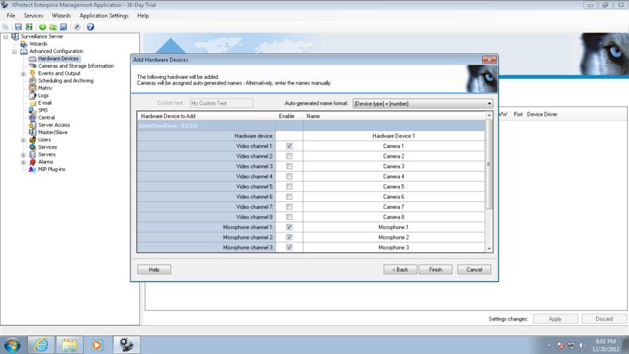 Milestone MA Configuration, Enterprise version - VIT company